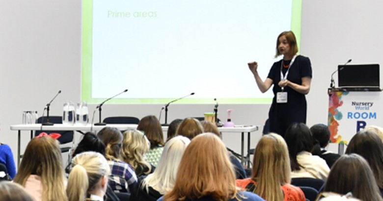 Penny Tassoni MBE speaking at Nursery World NORTH 2019