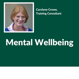 Mental Wellbeing, Carolyne Crowe, Training Consultant