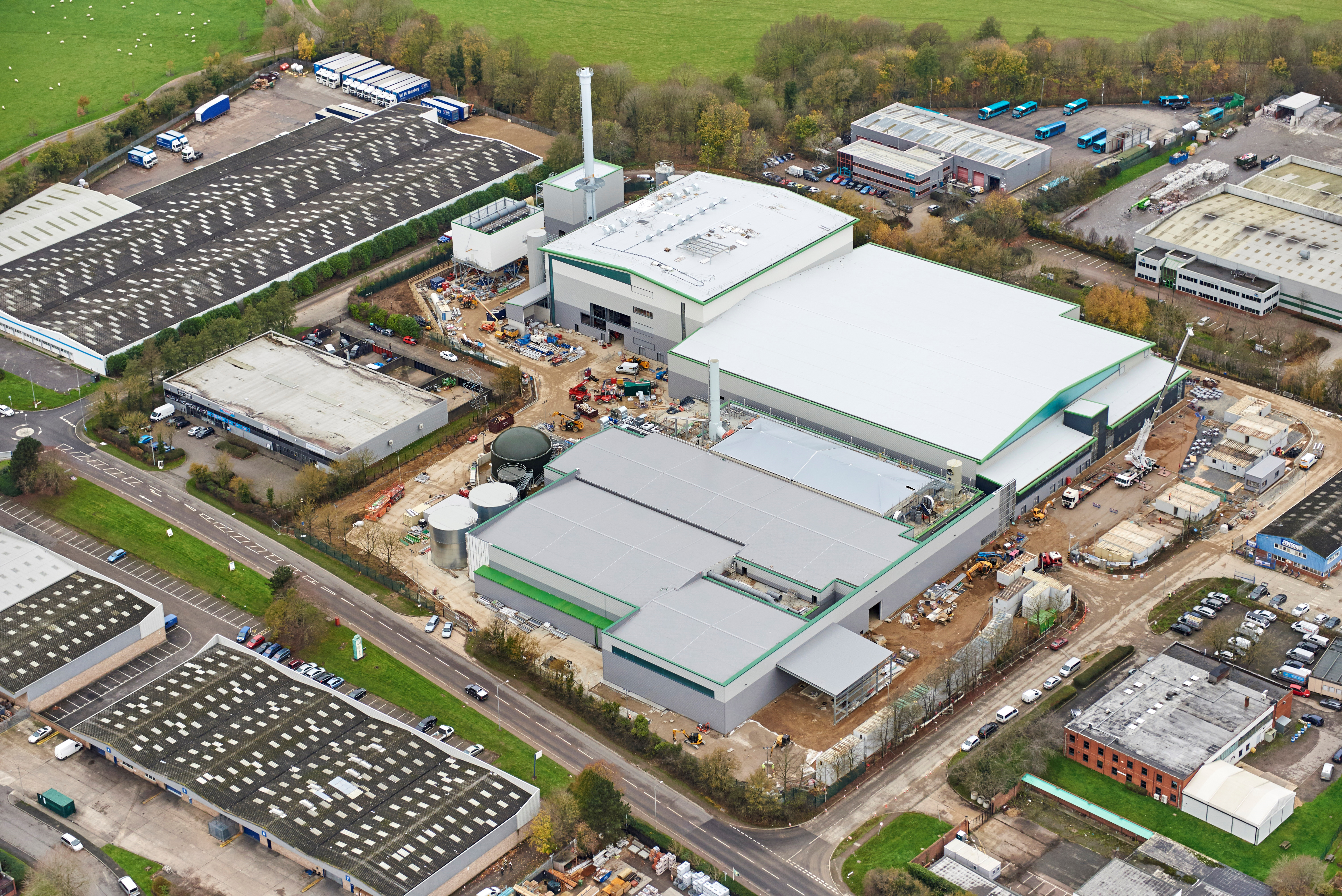 Aerial view of the Milton Keynes Waste Recovery Park