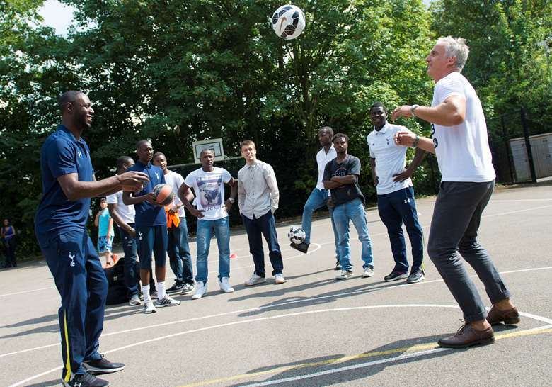 The Tottenham Hotspur Foundation will support the engagement of looked-after children in Haringey. Image: Tottenham Hotspur Foundation