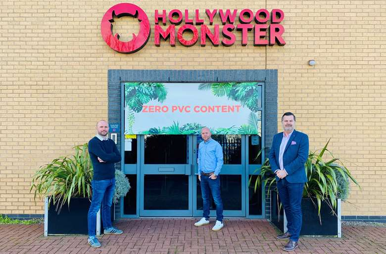 The business will stop using PVC banner from 1 March. Image: Hollywood Monster