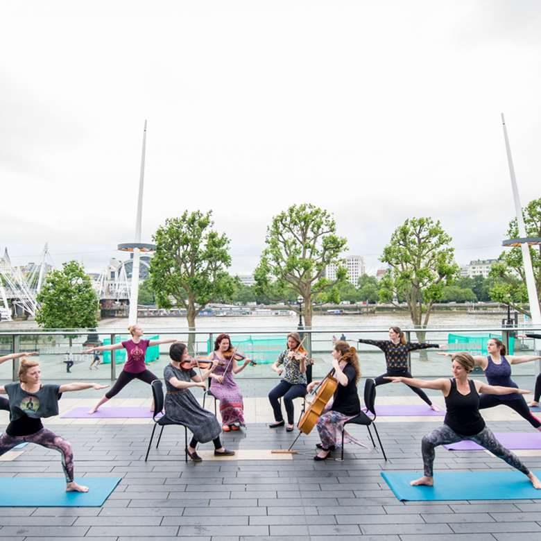 Yoga classes will be accompanied by live classical music