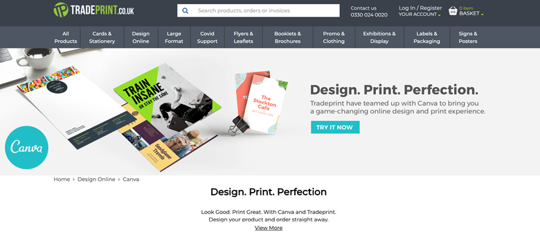 The new Canva section of Tradeprint's site is now live