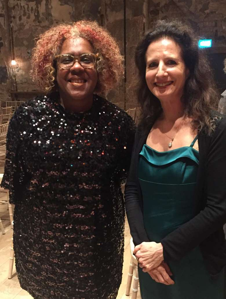 Errollyn Wallen and Madeleine Mitchell at the 2019 RPS Awards