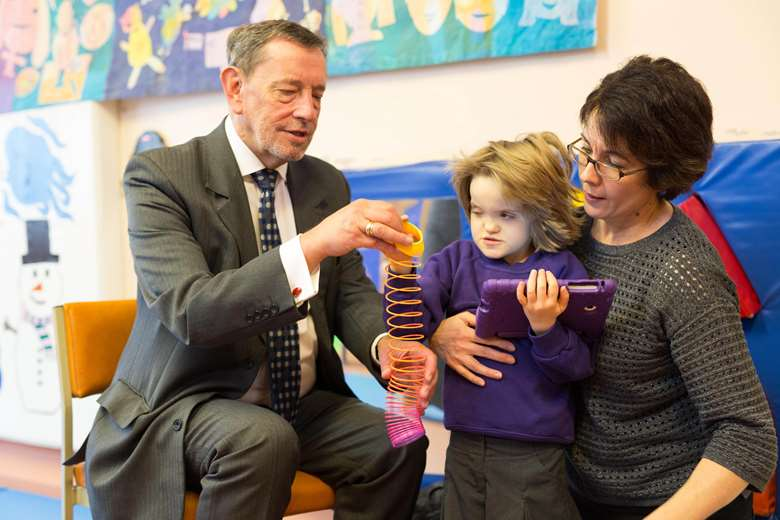 Lord Blunkett believes that the lack of play accessibility for disabled children has serious implications. Picture: Sense