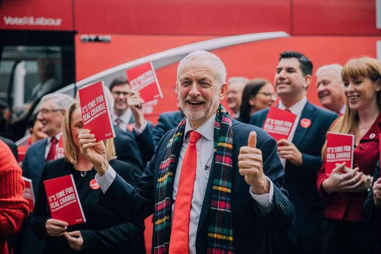 Jeremy Corbyn launches the Labour Party manifesto in Birmingham. Image: The Labour Party