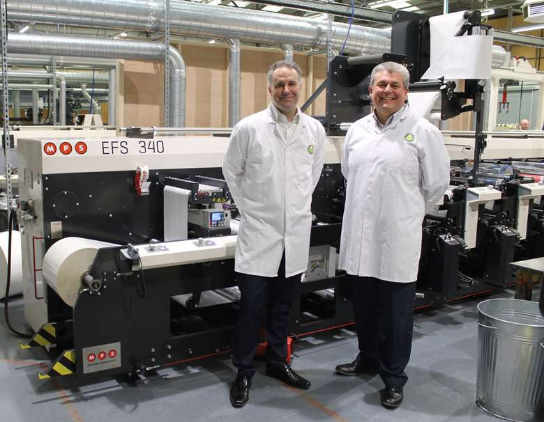 "Allum (left): ""This particular option is a real game-changer not only for us, but for the flexo industry"""