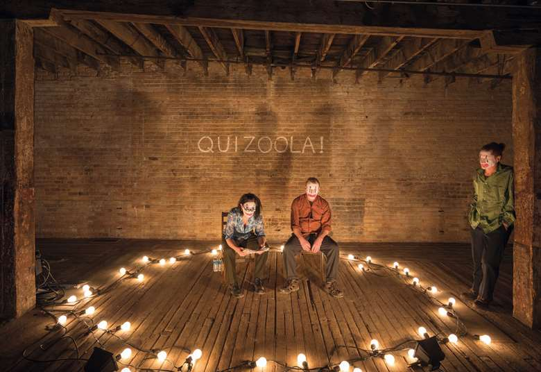 Forced Entertainment perform their improvised game show, Quizoola!