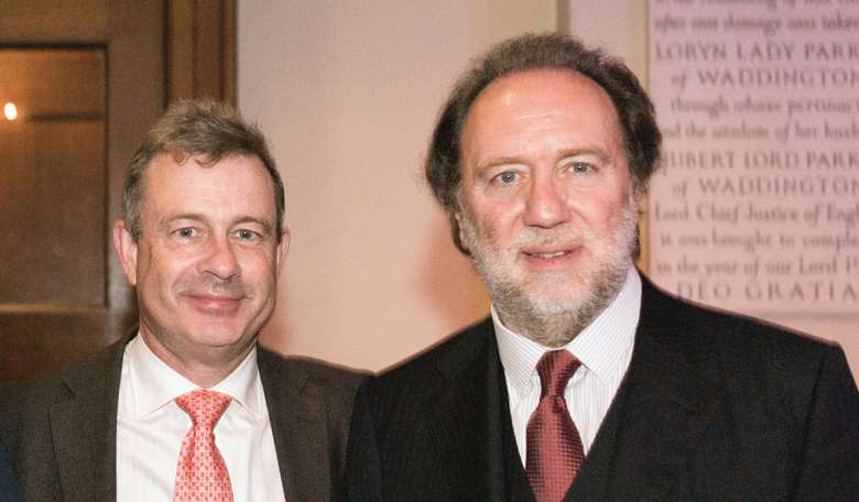 Riccardo Chailly (right) with Gramophone's Editor-in-Chief James Jolly