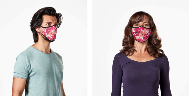 New Vistaprint masks come in colourful designs