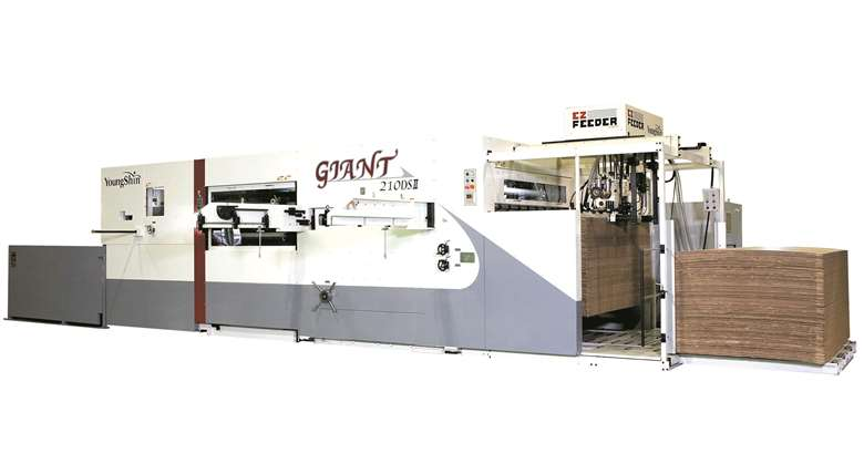 The Giant range of die-cutters are available in formats up to 2.5x1.7m