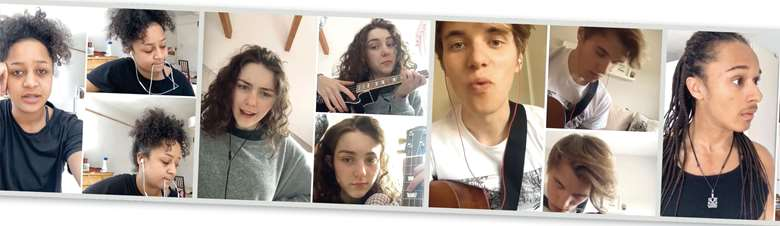 Rose Bruford actor musicians performing online