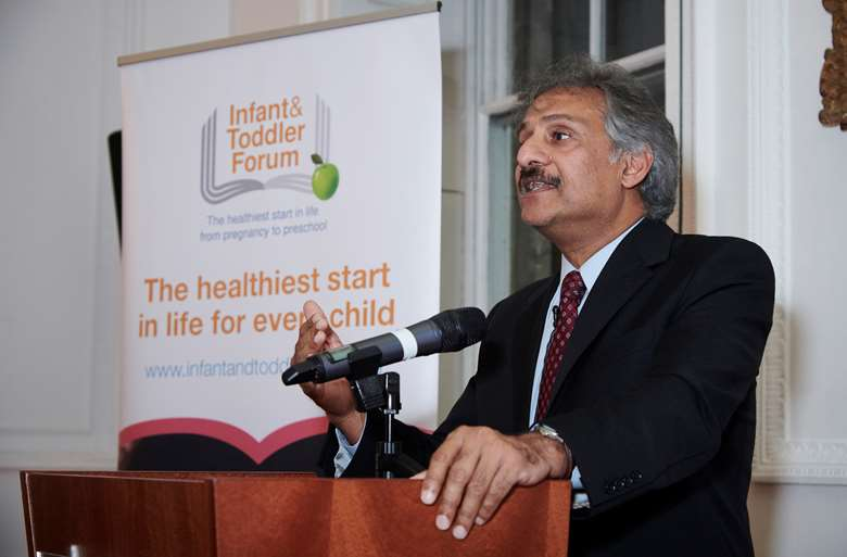 Atul Singhal, professor of paediatric nutrition at the Institute of Child Health, and chair of the ITF, at the re-launch of the Infant and toddler Forum