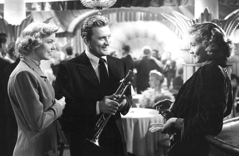 Doris Day, Kirk Douglas and Lauren Bacall in Young Man with a Horn (1950)