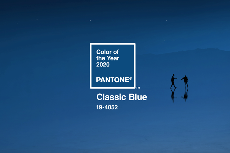 "Pantone 19-4052 Classic Blue is ""a boundless blue evocative of the vast and infinite evening sky"""