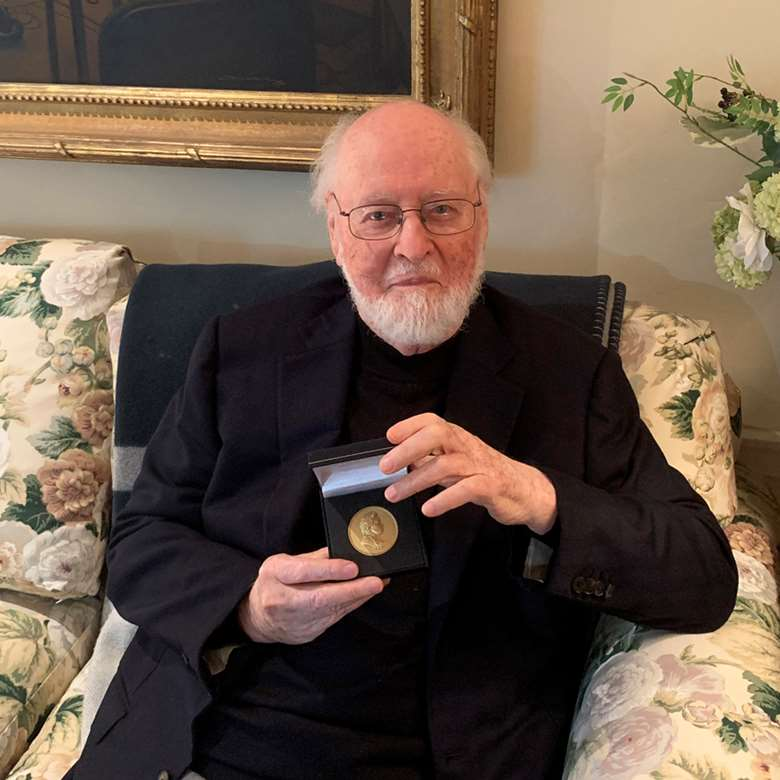 Composer John Williams received the prestigious RPS Gold Medal