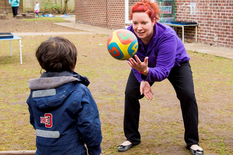 Staff at Old Station Nursery in Henley-on-Thames prioritise on being active with children outdoors