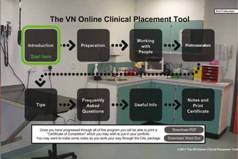 The Veterinary Nurse | Development of the VN online clinical