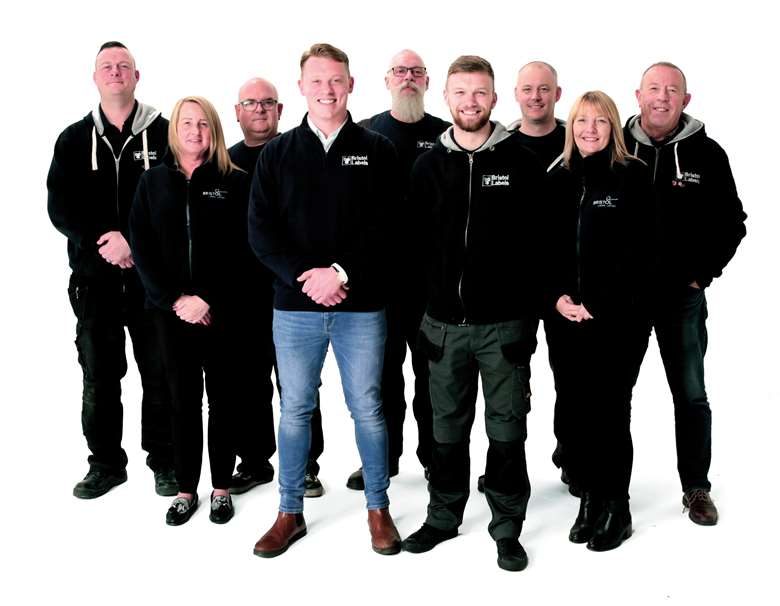 Stokes and some of the Bristol Labels team
