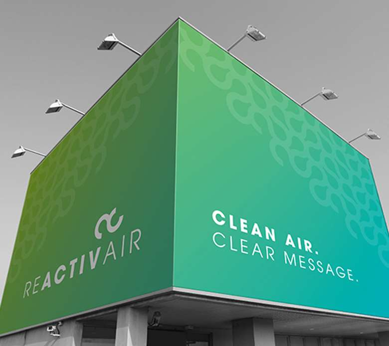 ReactivAir: keeps graphics clean while removing pollution