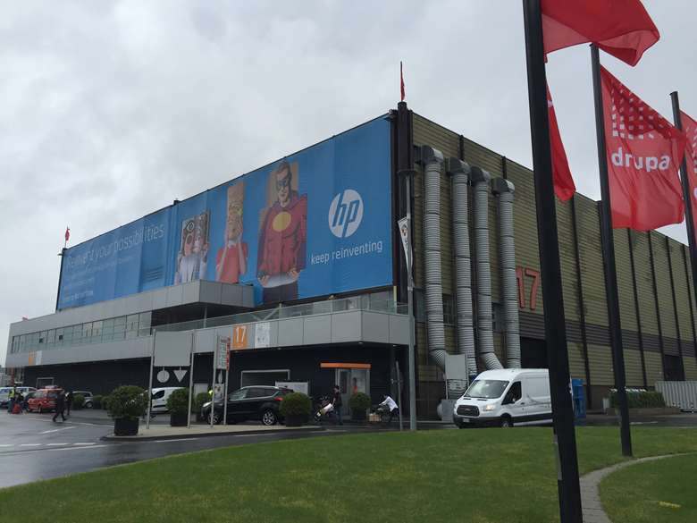 HP took over all of Hall 17 at Drupa 2016