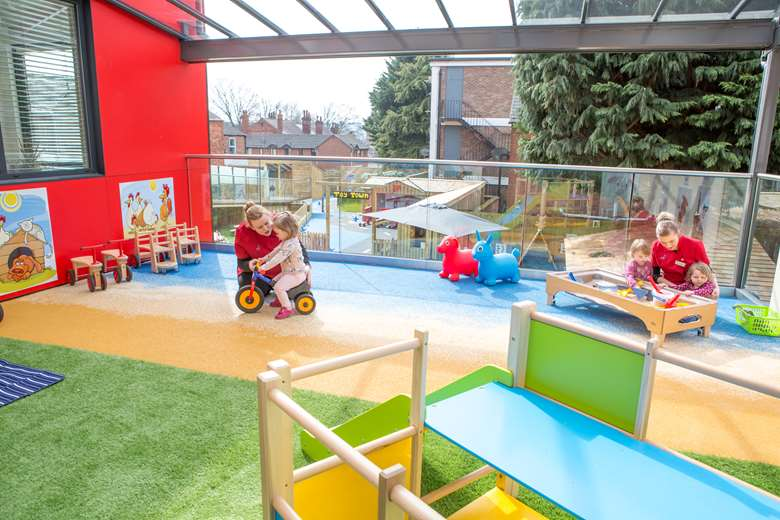 Children 1st is joint first in the Nursery Chains quality league table. Pictured is Children 1st@Rosemary Lane in Lincoln, which opened in 2018