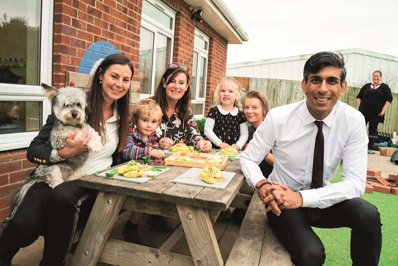 Chancellor Rishi Sunak visited Rosedene Nurseries in Northallerton in September to thank them for caring for the children of local hospital staff during lockdown