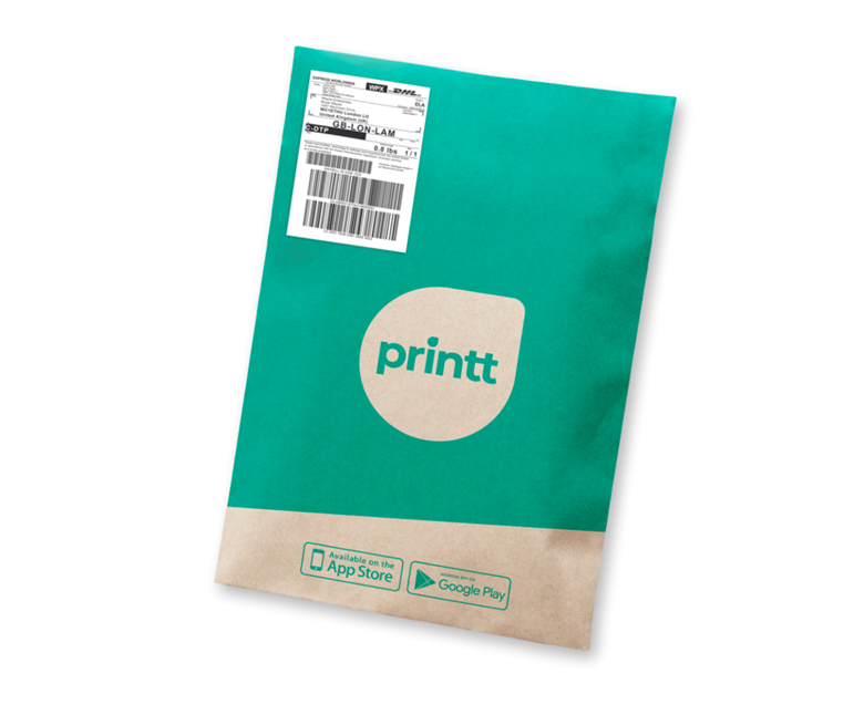 Upload print materials via app, to be delivered to home