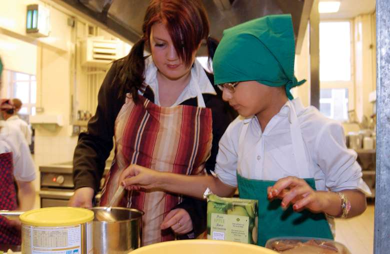 The Primary National Curriculum states children should be taught how to cook and the principles healthy eating.