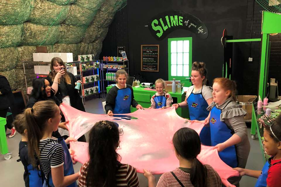 Slime Planet, located at Loughborough Junction in south London, runs activites and workshops for pre-schoolers and KS1 and 2 pupils.
