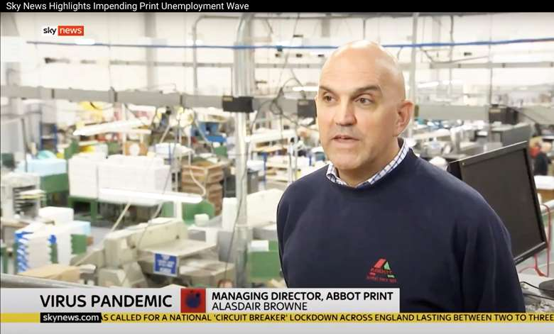 Abbot Print's Alasdair Browne featured on Sky News earlier this week