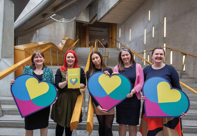 Scotland's Independent Care Review was launched at an event in the Scottish parliament attended by people with care experience, some of whom gave evidence to the inquiry. Picture: Independent Care Review