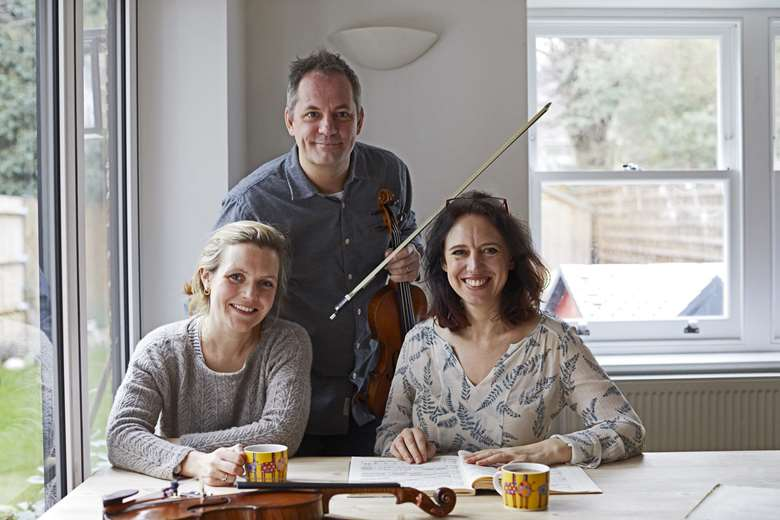 Ellie Fagg (left), Eleanor Meynell (right), Tom Norris (middle)