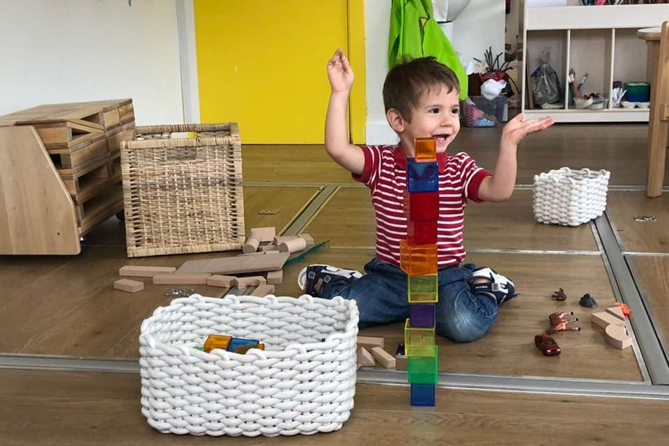 Children develop through play, exploration and intuition at Girotondo Pre-school in Chiswick.