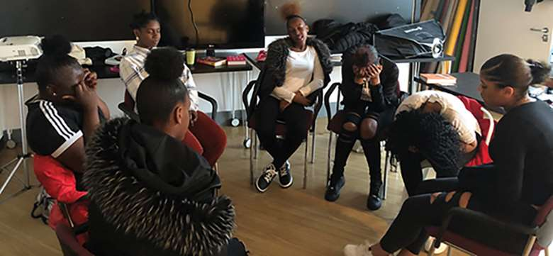 Milk & Honey's sessions are co-produced by the young women who attend, with creative expression helping them to feel safe