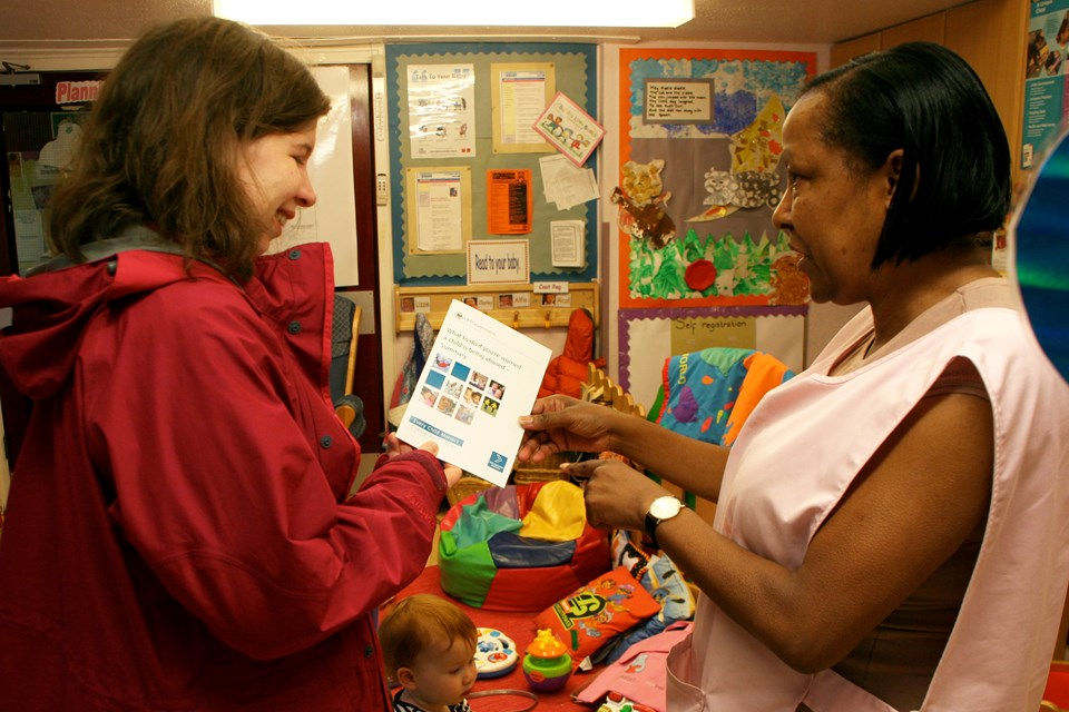 Giving new parents a warm welcome at Aylesbury Nursery in south London