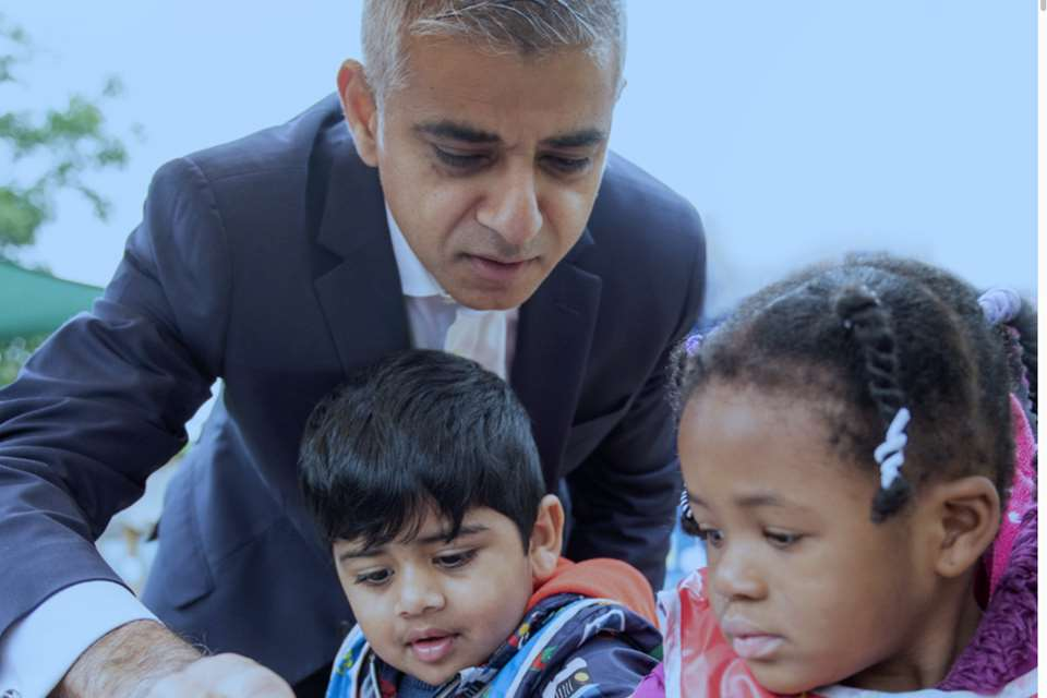 Mayor Sadiq Khan believes that early years education makes a difference
