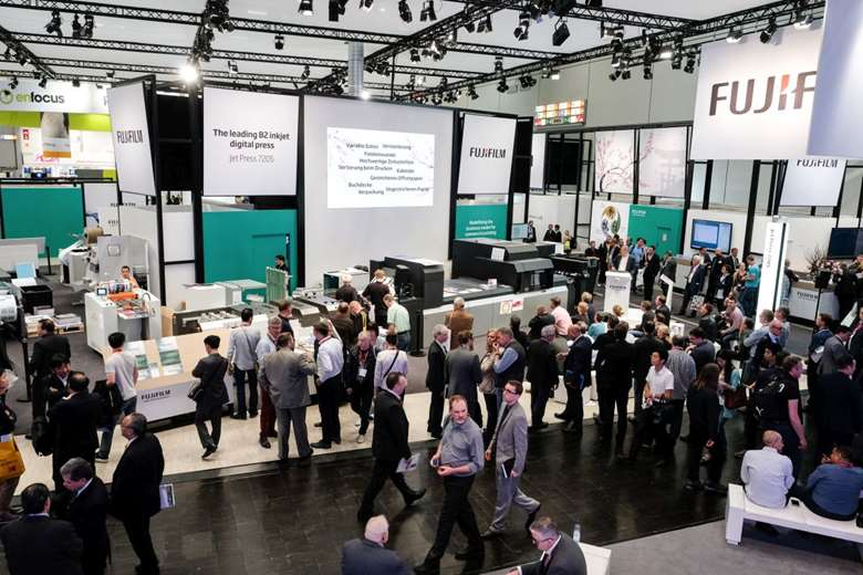 Part of the Fujifilm booth at Drupa 2016