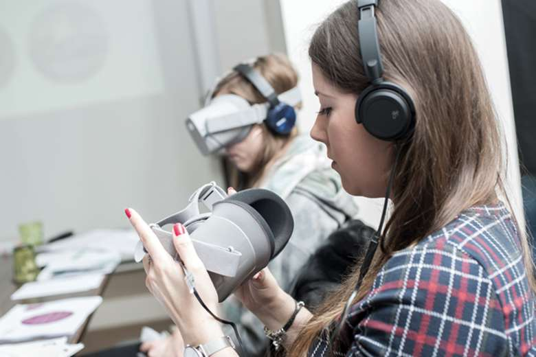 VR headsets give professionals an immersive, first-hand insight into the lives of children who experience abuse or neglect. Picture: Cornerstone Partnership