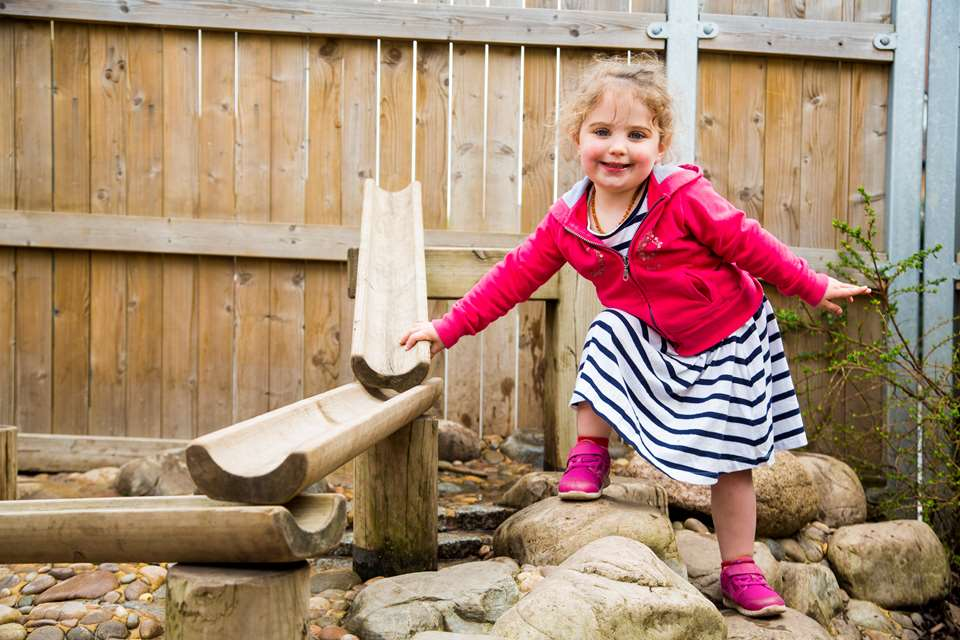 Children will have fun building bridges outside to enact the story