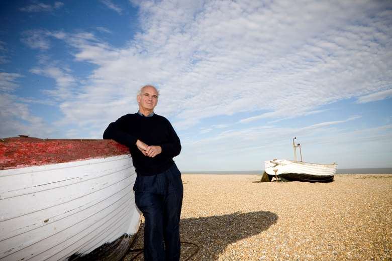 Steuart Bedford on Aldeburgh Beach (photo: Paul Mitchell)