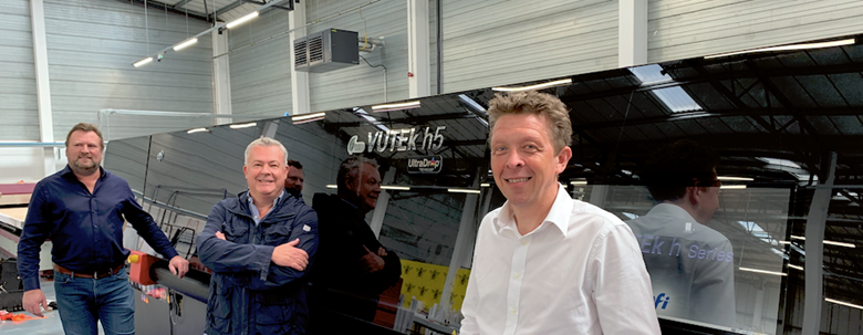 Left to right: 3 Sixty commercial director Ben Newton, CMYUK's Robin East and Inkin