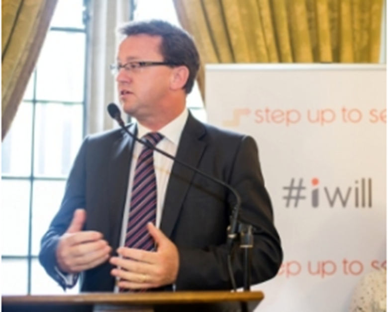 Rob Wilson announces government funding of £1m for Step Up To Serve. Picture: Step Up To Serve
