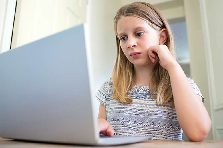 A child is subject to online abuse every 16 minutes in England and Wales, the NSPCC says. Picture: Adobe Stock/posed by model