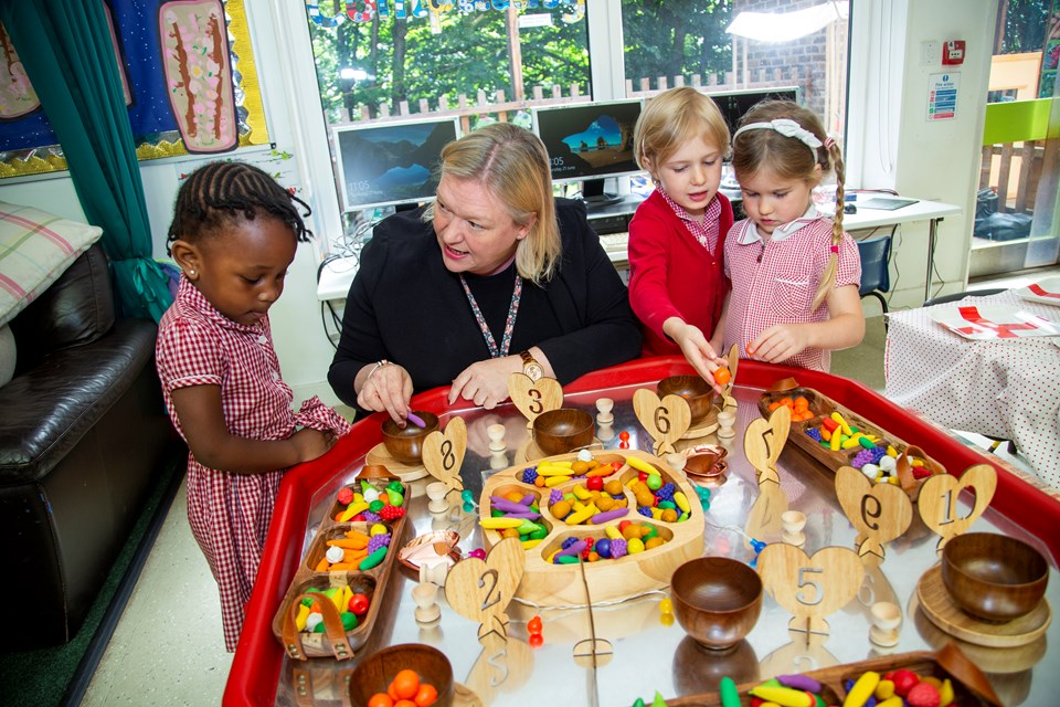 Tuff Trays are an important resource at Cypress Primary School Nursery, in Croydon