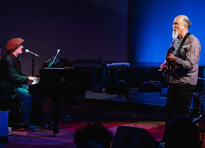 Jon Cleary and John Scofield (photo by Mikal Buksa)