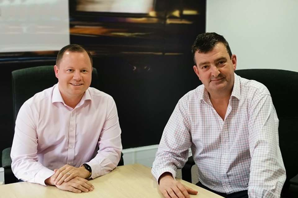 New sales and marketing director Jamie Ward (left) with CEO Simon Curry (right)