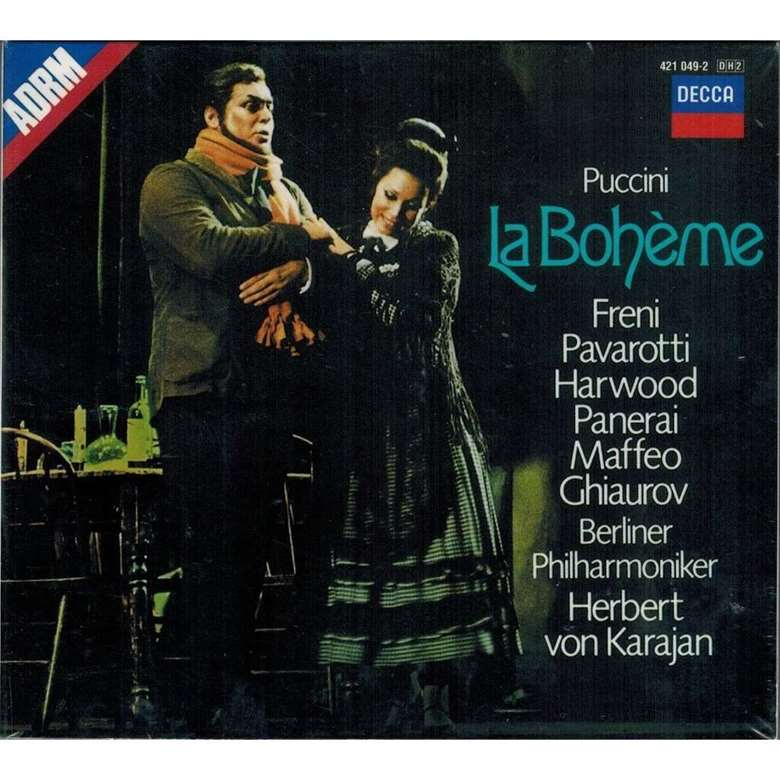 Karajan's Decca recording of Puccini's La bohème, with Freni and Pavarotti - perhaps her best-known release