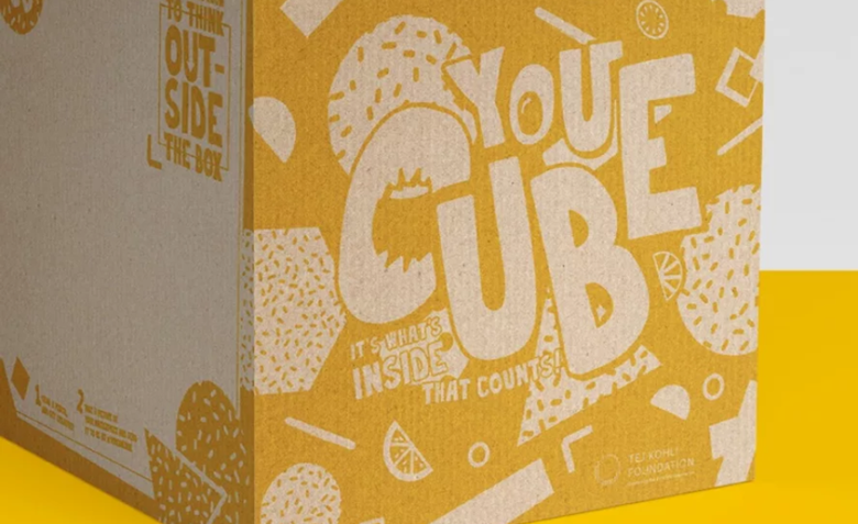 Each YouCubeBox contains items of nutricious food, arts and education. Picture: YouCubeBox.com