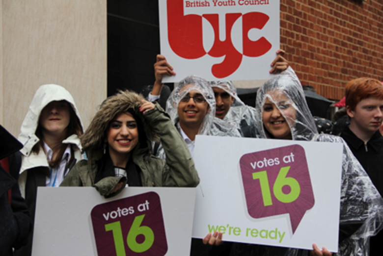 One of the BYC's priorities is to have the voting age lowered to 16. Picture: British Youth Council